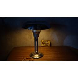 Prachtig herstelde Art-Deco tafellamp - chroom