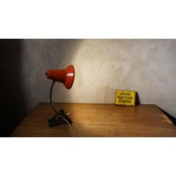 Mooi vintage design tafellampje - hala - rood