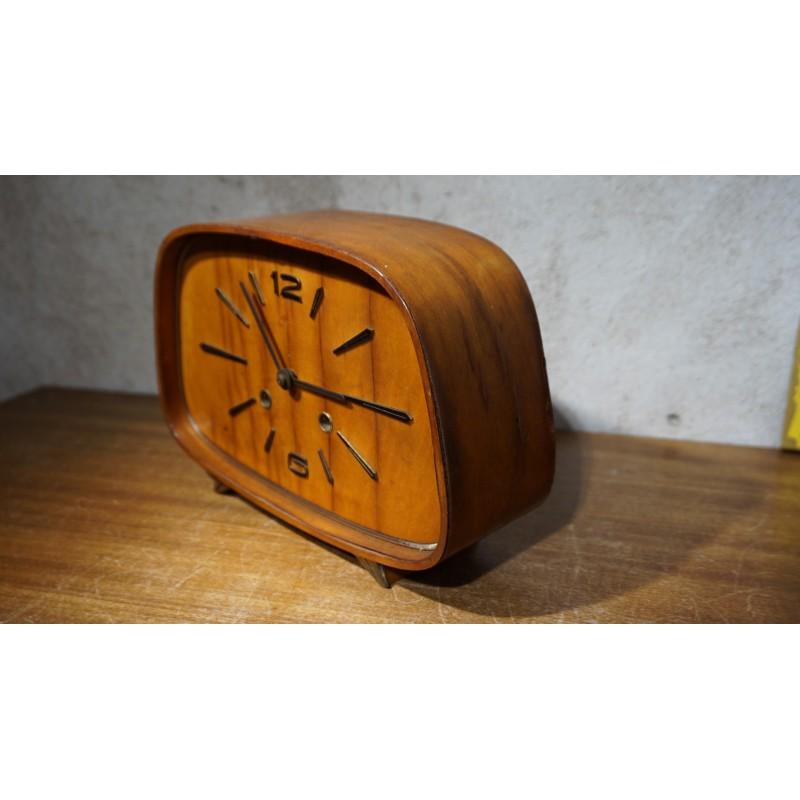 Prachtig verweerde vintage tafelklok / pendule