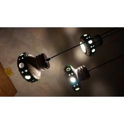 Mooie keramieken hanglamp - Herda - groen