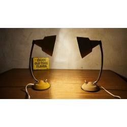Mr. and Ms. Smith - vintage tafellampjes - Aluminor