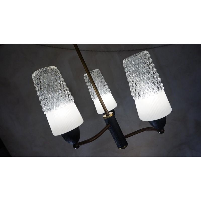 Hele mooie driedubbele vintage hanglamp