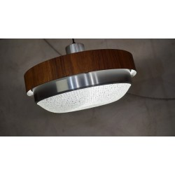 Prachtige vintage design hanglamp - houtfineer