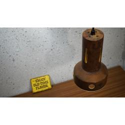 Vintage design hanglamp van koper met glas