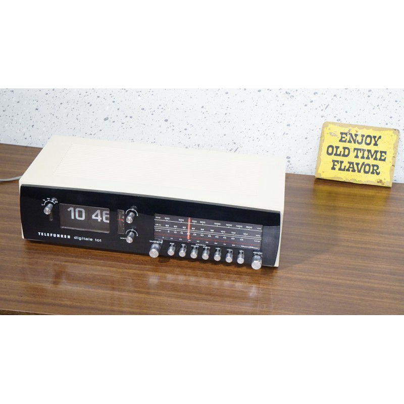 Prachtige Telefunken digitale 101 flipklok - wekkerradio