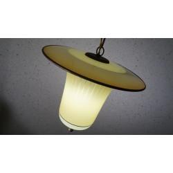 Bijzonder mooie vintage glazen hanglamp