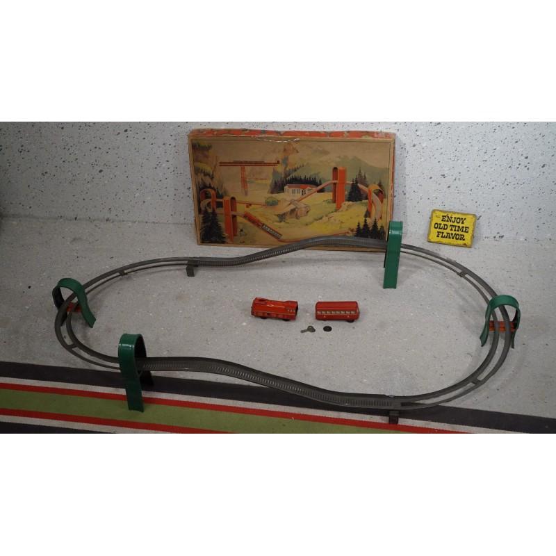 Vintage blikken opwindbare treinset - D.R.P. Germany (TECHNOFIX)