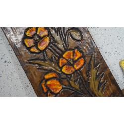 Mooie Ruscha Keramik wandtegel / tablet