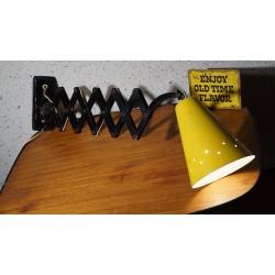 Prachtige originele H. Busquet schaarlamp - wandlamp