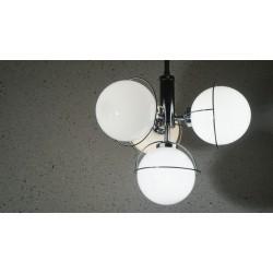 Mooie vintage hanglamp 4 melkglazen bollen - Massive