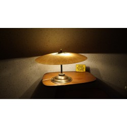 Prachtige Art Deco tafellamp - glazen kap