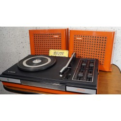 Mooie rode Philips GF623 draagbare platenspeler - stereo