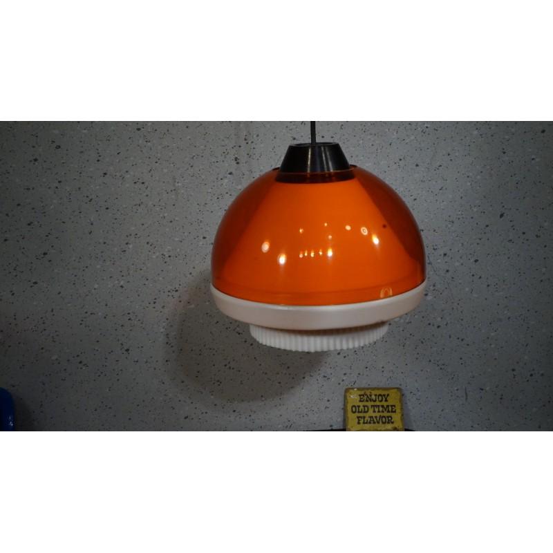 Leuke PHILIPS space age hanglamp - oranje