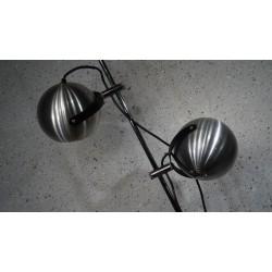 Prachtige vloerlamp met dubbele bol - metaal