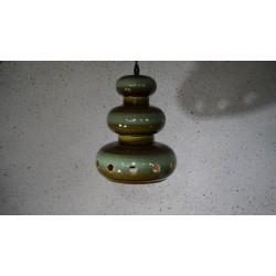 Mooie zeldzame keramieken hanglamp - groen