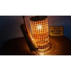 Leuk vintage wandlampje - o.a. bamboe