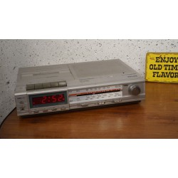 Mooie Philips D7527 electronic clock radio recorder