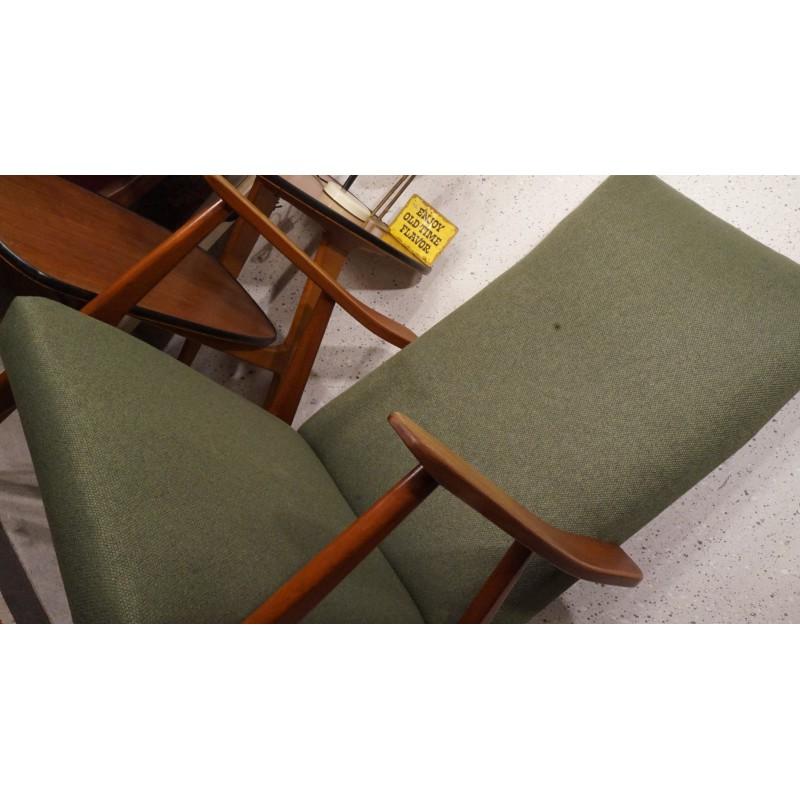 Prachtige vintage fauteuil - nieuw gestoffeerd