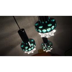 Hele mooie vintage Massive design hanglamp - 3 kelken