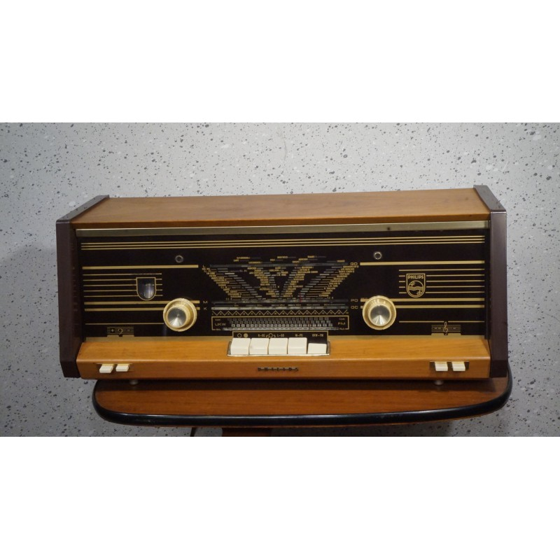 Bijzonder mooie Philips B4X23A buizenradio
