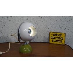 Mooi vintage tafellampje - bol - groen-wit