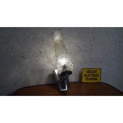 Mooi vintage wandlampje - metaal glas
