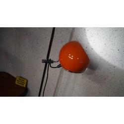 Prachtige vintage design vloerlamp - bol - oranje