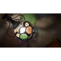 Bijzondere kleurrijke hanglamp - lantaarn