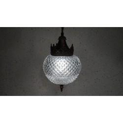 Prachtige vintage hanglamp met glazen bol