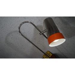 Prachtige vintage design vloerlamp - spot - chroom - oranje