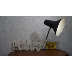 Prachtige zeldzame vintage design schaarlamp (hala)