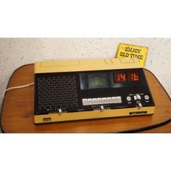 Bijzonder mooie LOEWE OPTA Juwel - electronische wekkerradio