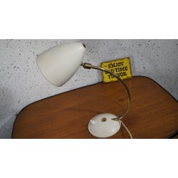 Prachtig 50s design tafellampje - koper met metaal