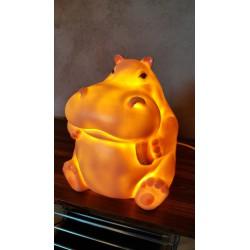 Vintage Nijlpaard nacht lamp - voor liefhebber / kinderkamer