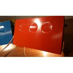 Vintage Raak wand lampjes - metaal - blauw / rood