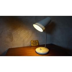 Mooie vintage Deens design bureaulamp - wit - metaal