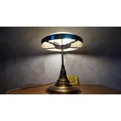Hele mooie originele koperen Art Deco tafellamp
