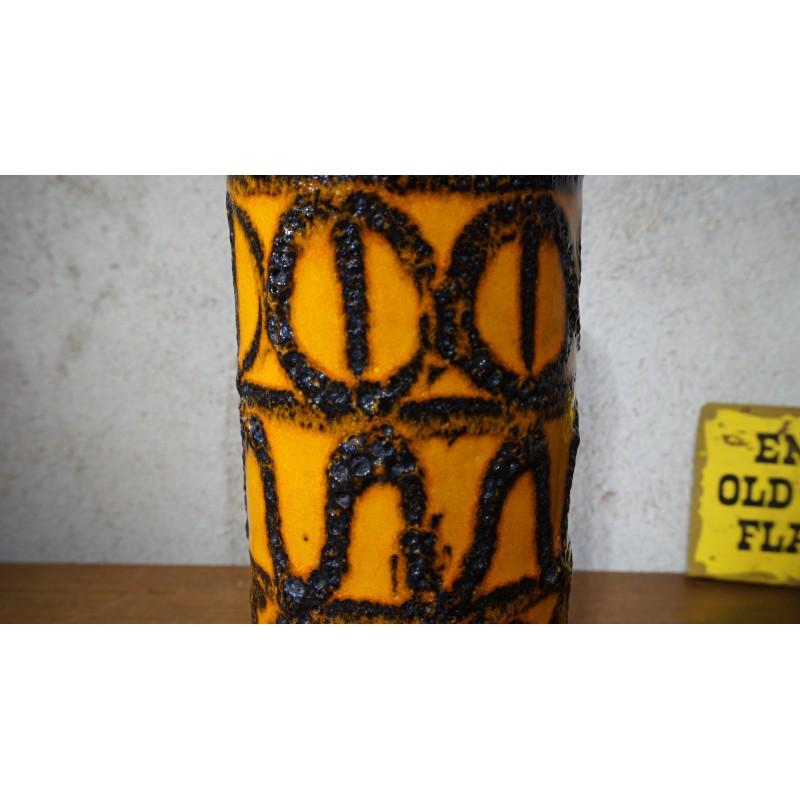 Vintage Scheurich 203 -26 Fat Lava cilinder vaas
