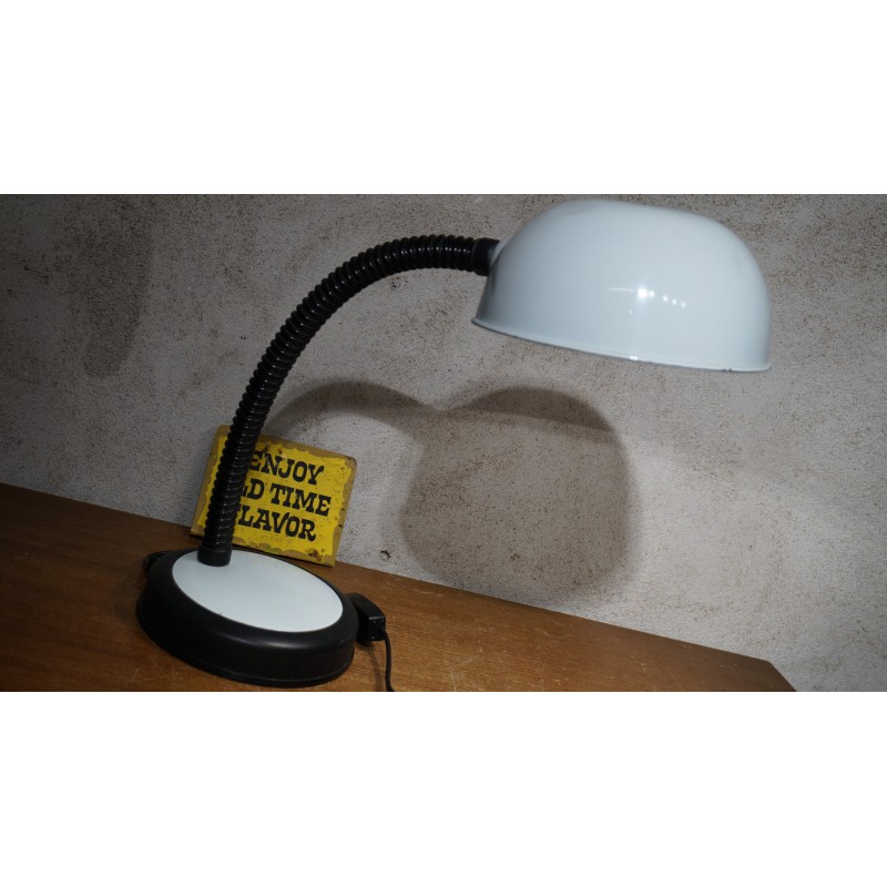 Vintage tafellampje - Italiaans -Veneta Lumi - wit